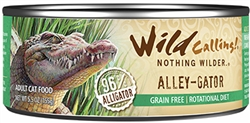 Wild Calling Alley-Gator Canned Cat Food